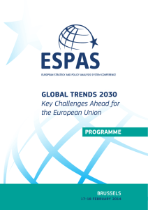 GLOBAL TRENDS 2030 Key Challenges Ahead for the European