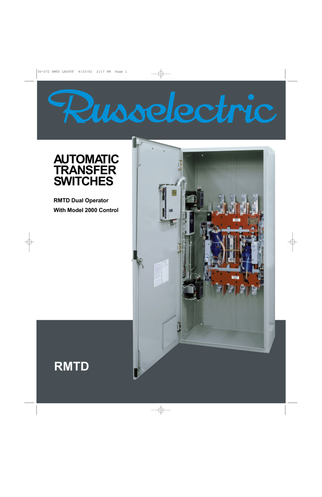 automatic transfer switches rmtd Russelectric Wiring Diagram