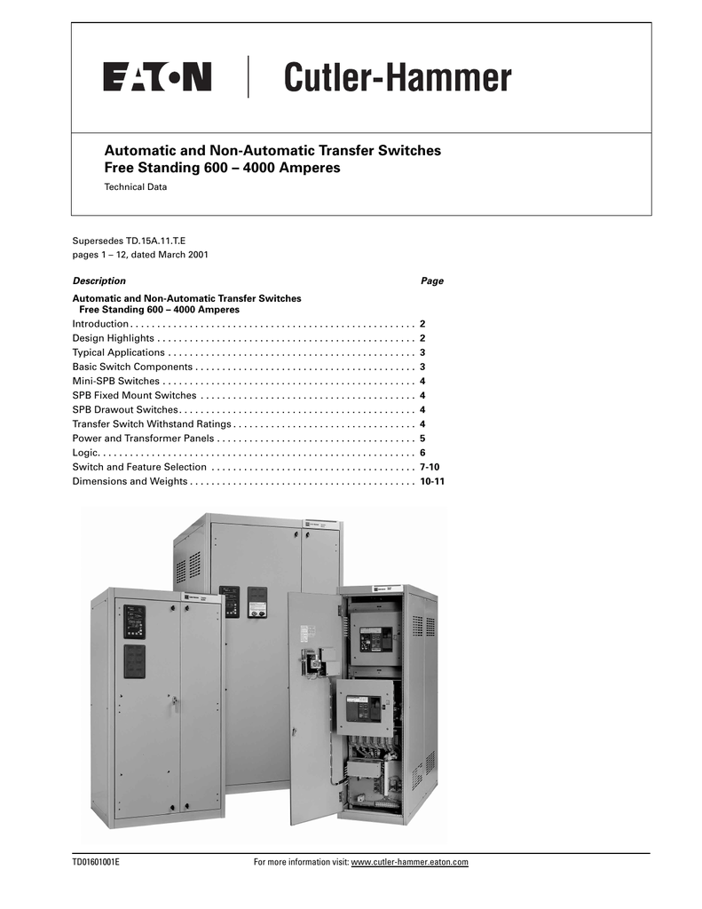 Automatic And Non Transfer Switches Electrical Should A Generator Switch Have Continuity
