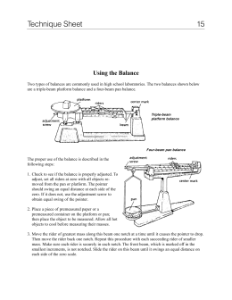 skills lab how to use a balance se. Black Bedroom Furniture Sets. Home Design Ideas
