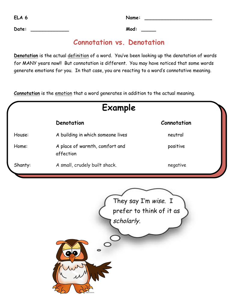 Connotationdenotation