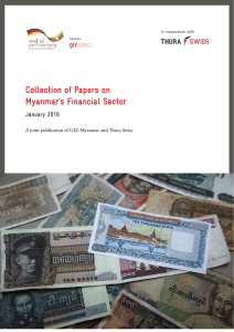 Collection of Papers on Myanmar`s Financial Sector