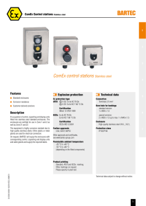 ComEx control stations Stainless steel