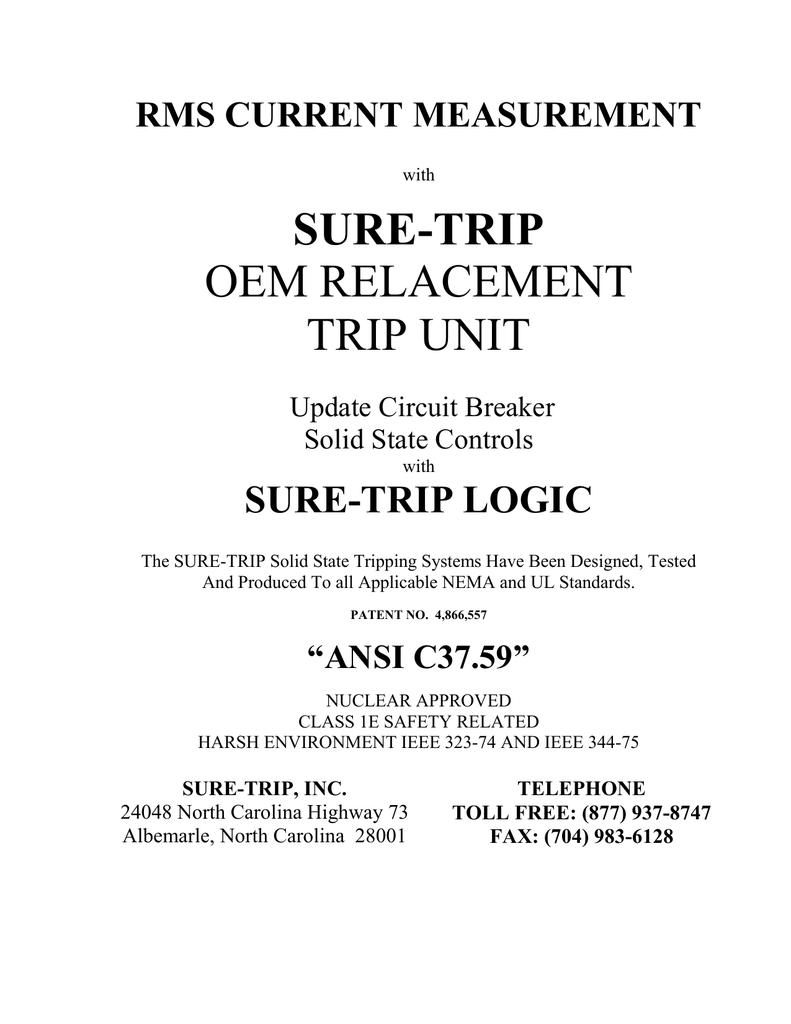 Rms Current Measurement Tripping Unit Of Circuit Breaker 018400501 1 Bce6e271b3540820927aaefaca34e664