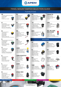 panel mount switch selection guide