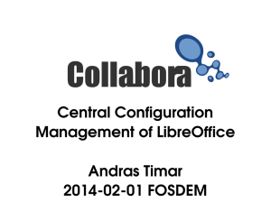 Central Configuration Management of LibreOffice