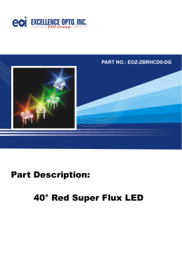 Part Description: 40° Red Super Flux LED