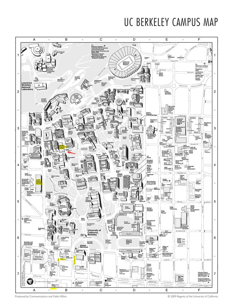 uc berkely campus map Uc Berkeley Campus Map uc berkely campus map