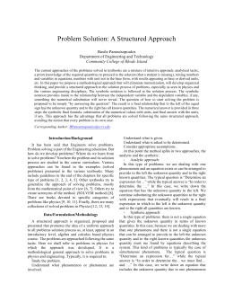 "Basile Panoutsopoulos, ""Problem Solution: A Structured Approach"""