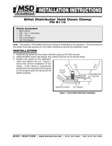 billet distributor hold down clamp