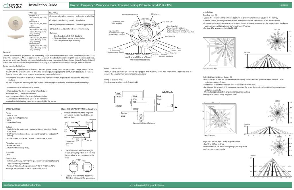 Ceiling Mounted Occupancy Sensor Wiring Diagram from s2.studylib.net