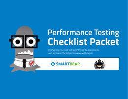 Performance Testing Checklists