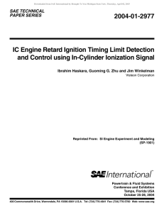 IC Engine Retard Ignition Timing Limit Detection and Control