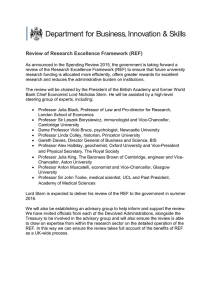 Review of Research Excellence Framework: terms of