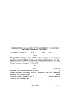 AGREEMENT FOR APPOINTMENT OF SDP