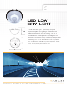 The LED Low Bay light is specifically designed to provide, high