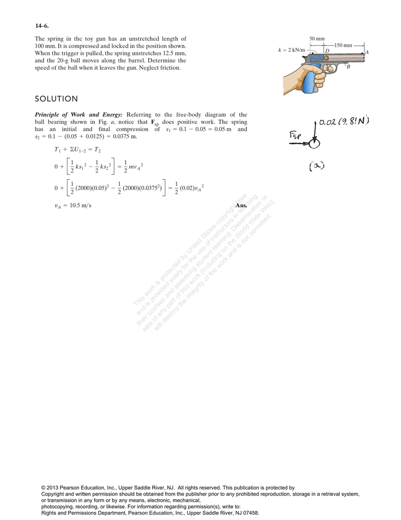 Homework 4 Solution Free Body Diagram Form A And Solve