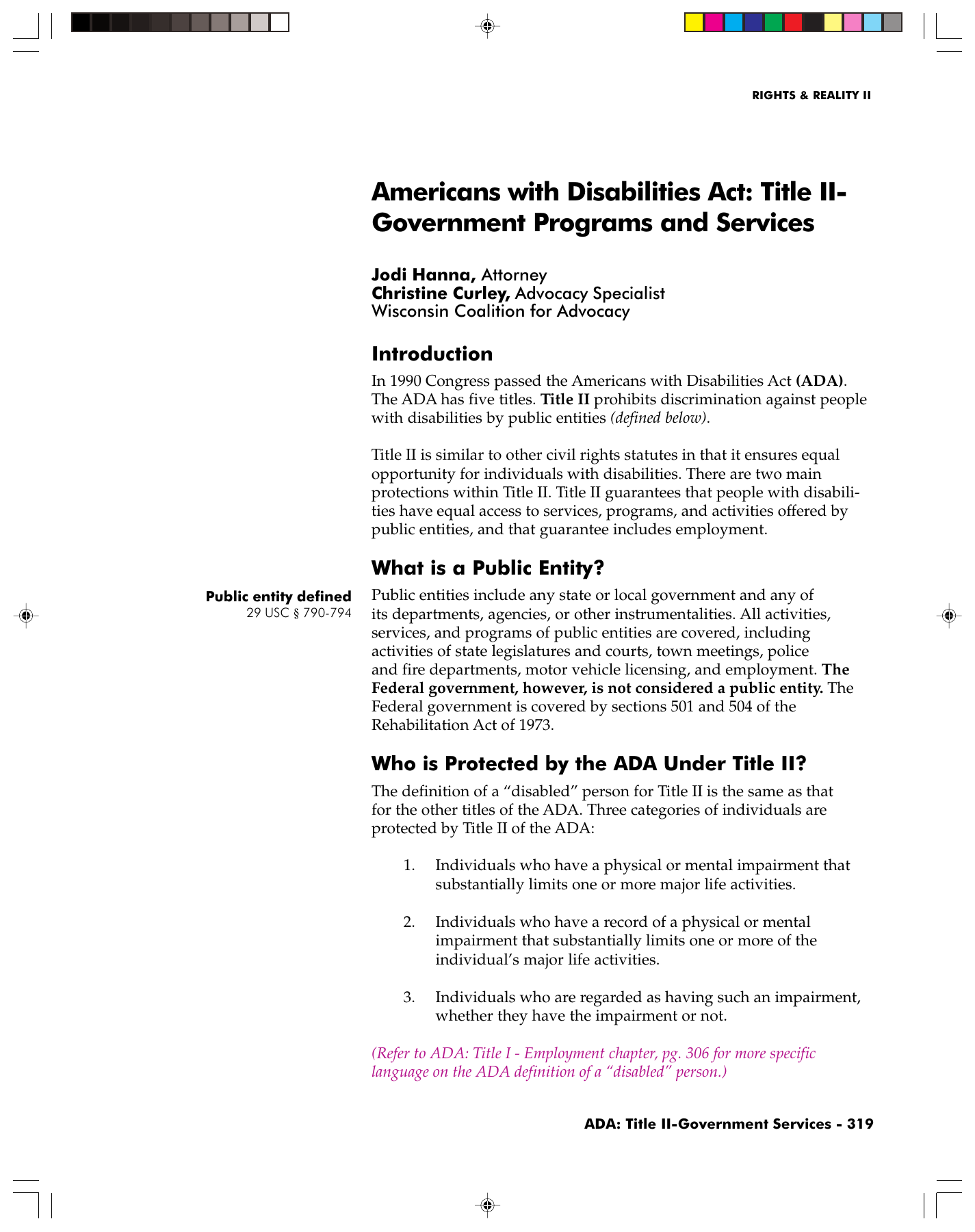 americans with disabilities act: title ii