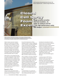 Closed Cell Spray Foam Excels