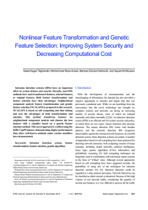 Nonlinear Feature Transformation and Genetic