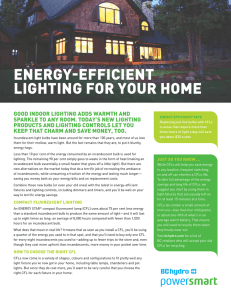 ENERGY-EFFICIENT LIGHTING FOR YOUR HOME