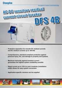 AC-DC sensitive residual current circuit breaker