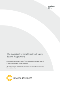 The Swedish National Electrical Safety Boards Regulations