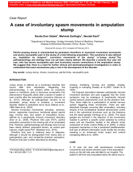 A case of involuntary spasm movements in amputation stump