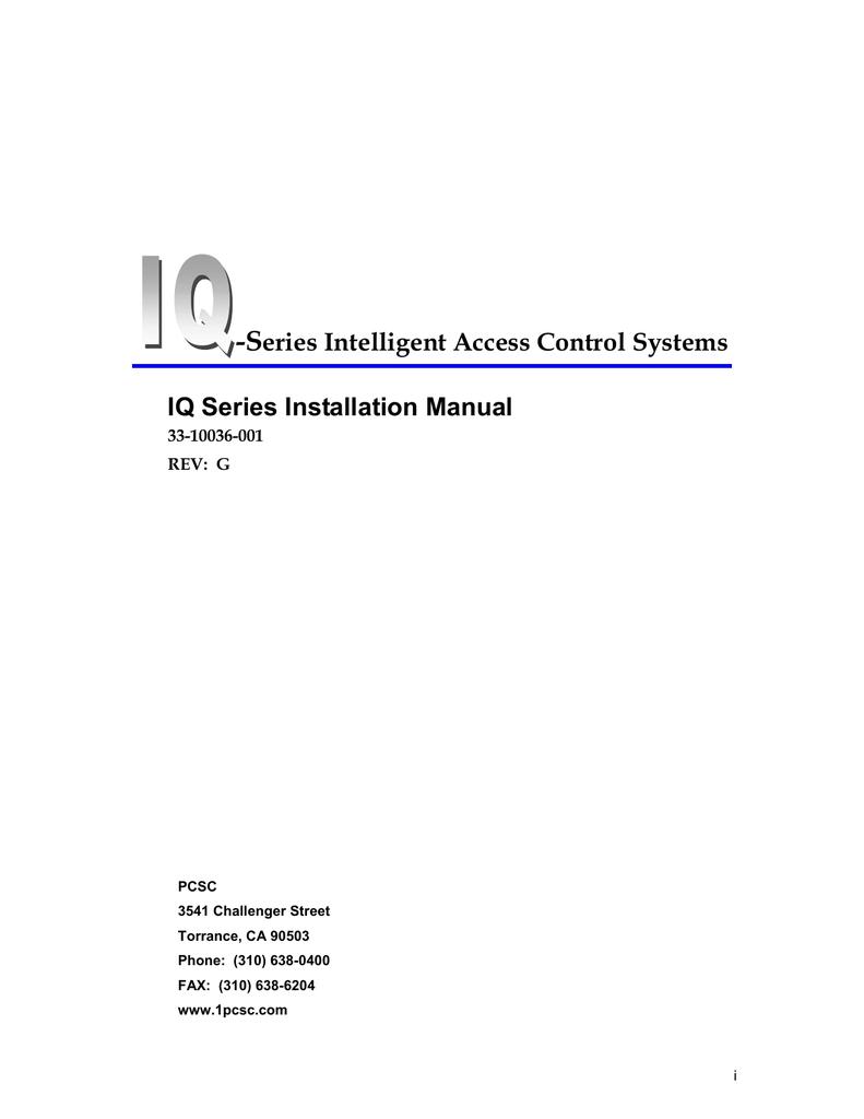 Iq Series Installation Manual D61 Wiring Diagram