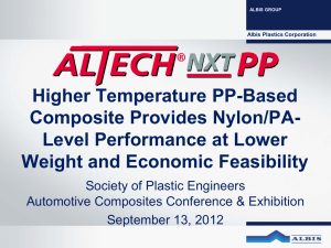 Higher Temperature PP-Based Composite Provides Nylon/PA