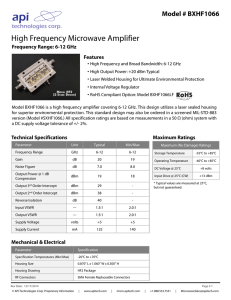 High Frequency Microwave Amplifier