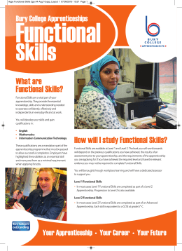 What are Functional Skills?