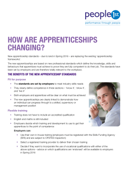 how are apprenticeships changing?