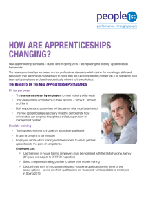 Guidelines for Implementation of National Apprenticeship