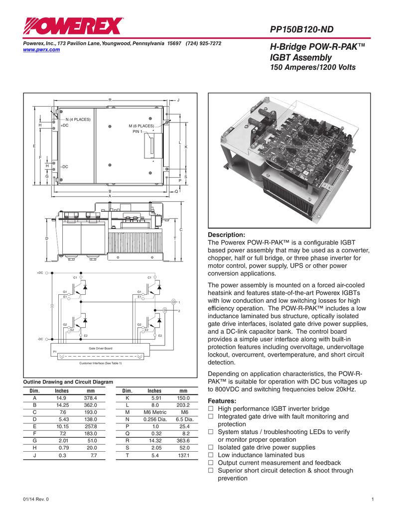 Pp150b120 Nd H Bridge Pow R Pak Igbt Assembly How To Buildan Inverter Testerdiagram