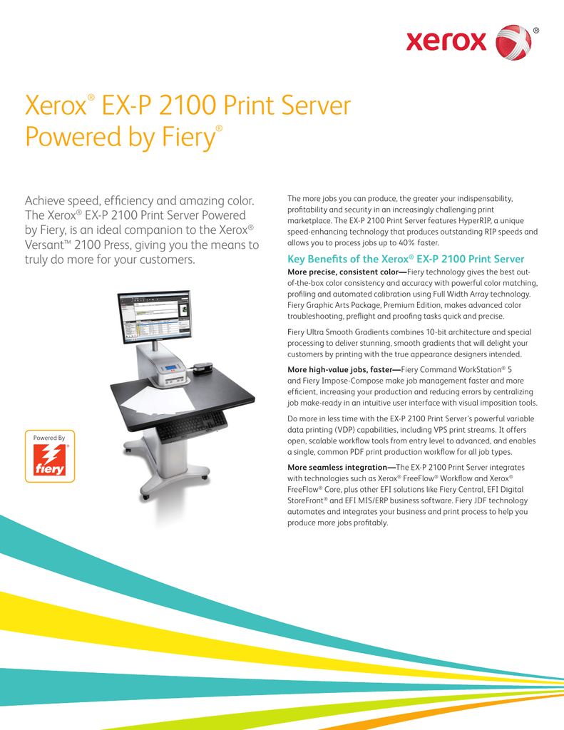 Xerox® EX-P 2100 Print Server Powered by Fiery®