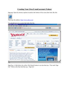 Creating Your Own E-mail account (Yahoo)