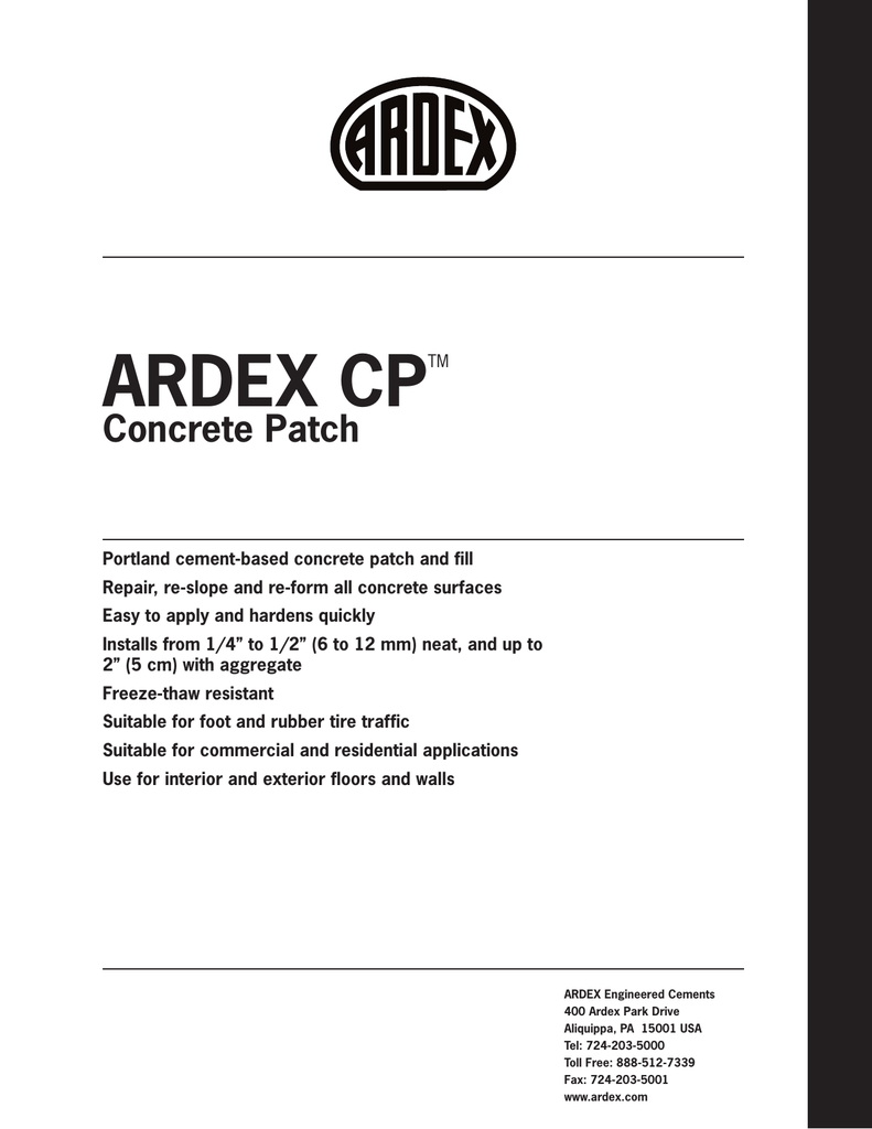 CP Tech Data - ARDEX Americas