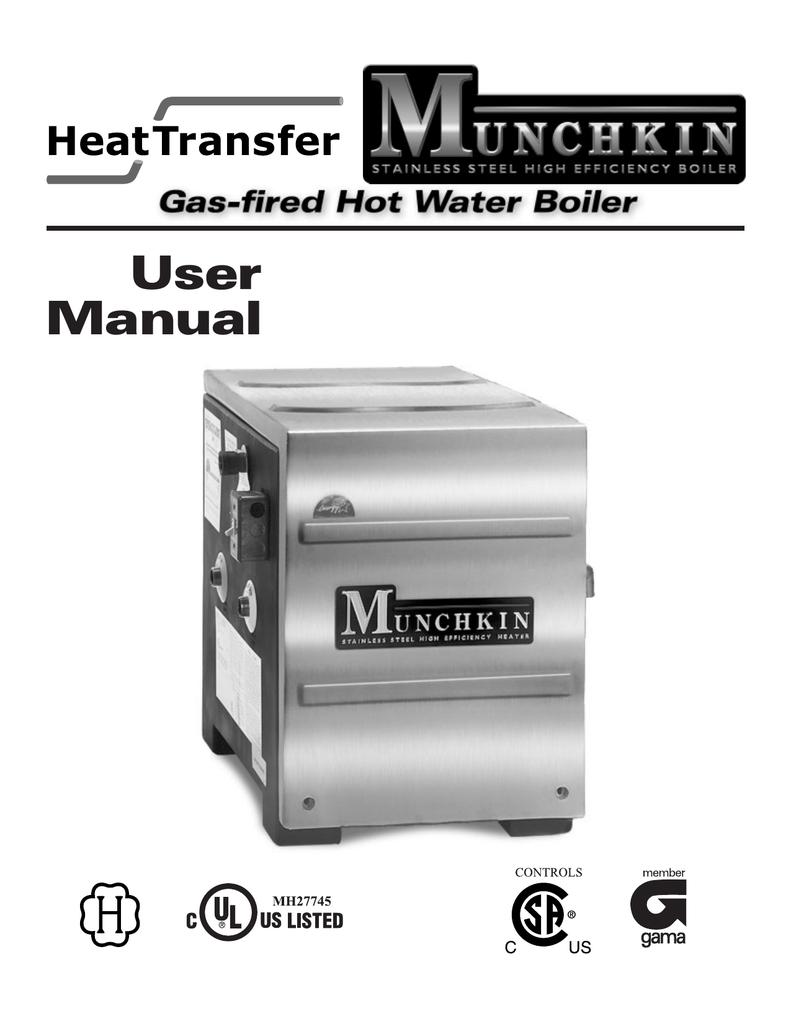 User Manual - Munchkin Boilers