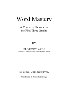 Word Mastery - Don Potter.net Wide Interest Website