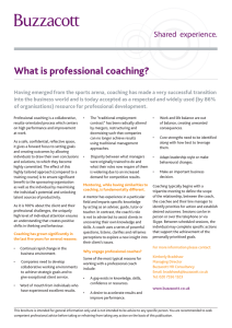 What is professional coaching?