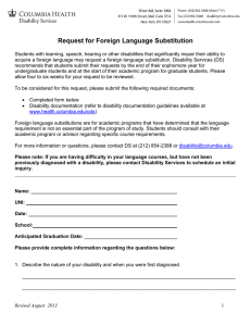 Request for Foreign Language Substitution