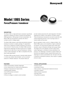 Model 1865 Series Force|Pressure Transducer