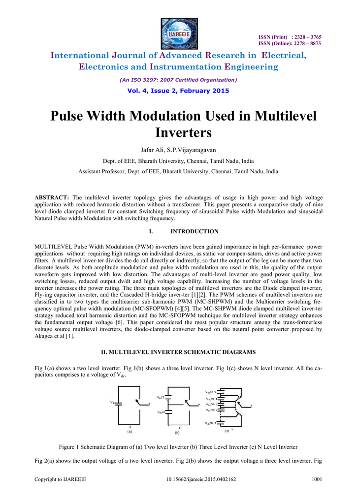 Pulse Width Modulation Used in Multilevel Inverters