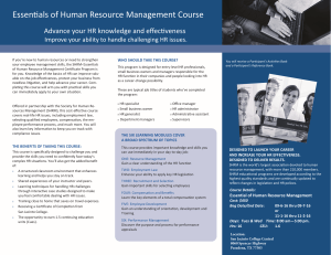 SHRM Essentials of Human Resource Management