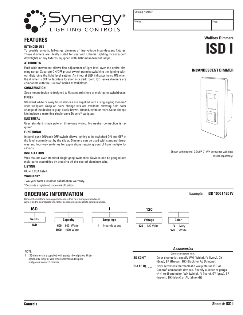 Isd I Acuity Brands Lithonia Lighting Fluorescent Further Single Pole Light Switch Diagram
