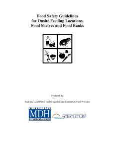 Food Safety Guidelines for Onsite Feeding Locations, Food Shelves