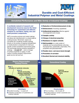Durable and Cost-Efficient Industrial Polymer and Metal Coatings