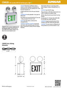 CSWLED Wet Location LED Exit And Emergency