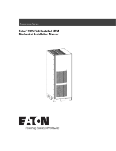 Eaton 9395 Field Installed UPM Mechanical Installation Manual